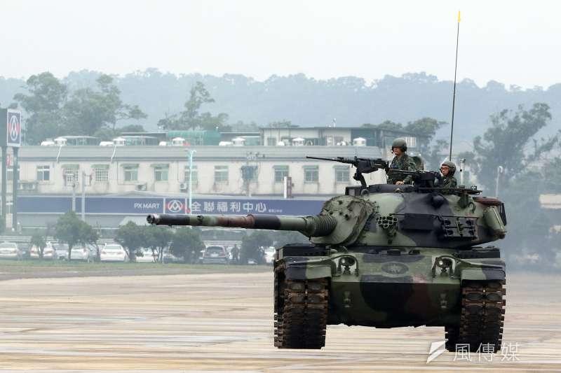 20190709-CM11(見圖)是陸軍M60A3之外另一款主戰戰車,共同擔任防衛作戰下,地面部隊的重要兵力。(蘇仲泓攝)