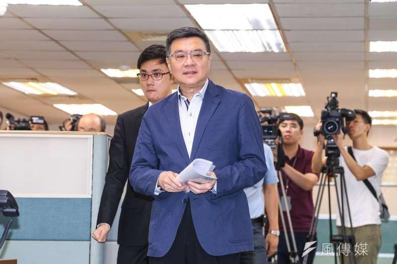 20190710-民進黨主席卓榮泰10日出席民進黨中執會。(顏麟宇攝)