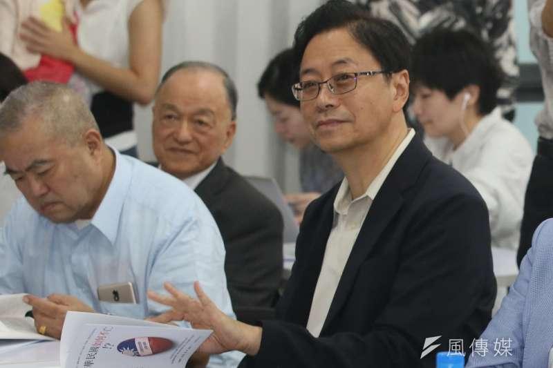 張善政批政府火力增加,被認為是要爭取競選副手位置。(柯承惠攝)