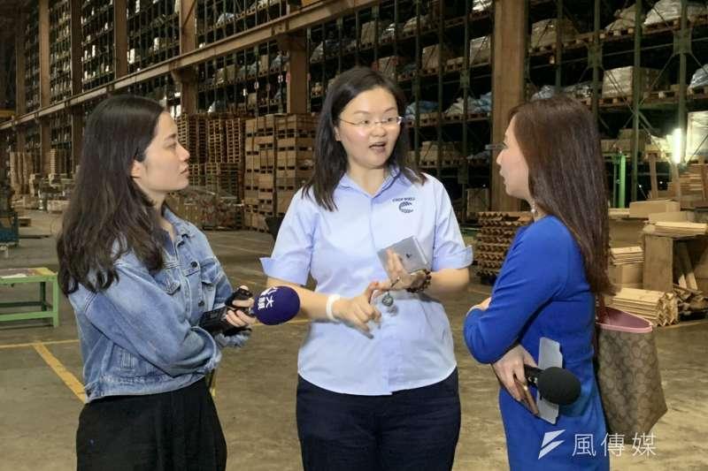 20190712-台商新南向,晉緯總經理蔡佳伶接受台灣媒體採訪,談美中貿易戰影響。(尹俞歡攝)