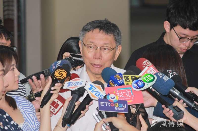 20190712-台北市長柯文哲12日上午在市府接受訪問。(方炳超攝)