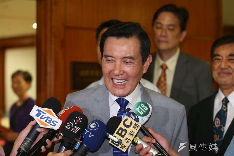前總統馬英九13日受訪時表示,將在國民黨初選結束後協助黨中央進行整合工作。(顏麟宇攝)