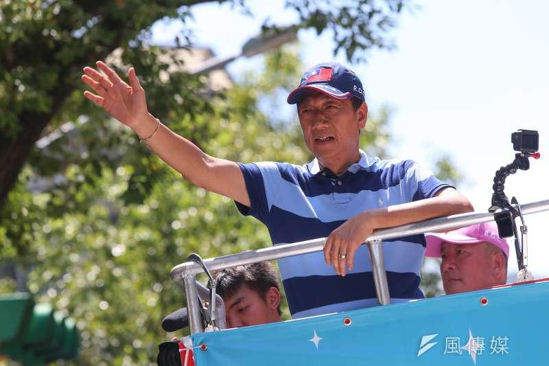 前鴻海董事長郭台銘12日宣布退出國民黨。(資料照,顏麟宇攝)