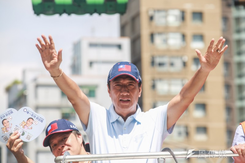 20190714-國民黨總統初選參選人郭台銘14日進行「跟著郭懂遊街去」,為初選投票最後做衝刺。(簡必丞攝)