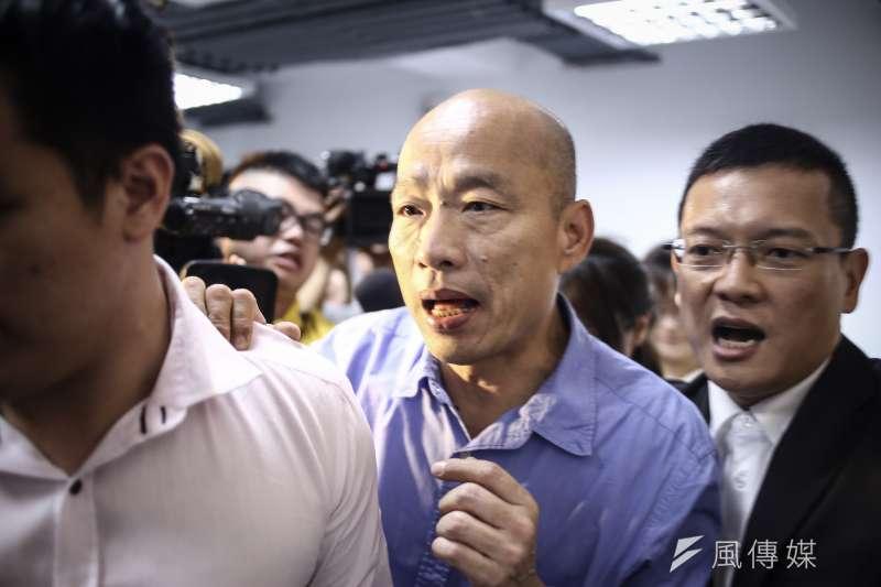 國民黨總統初選民調結果日前出爐,確定由高雄市長韓國瑜(中)代表競選2020總統大選。(資料照,陳品佑攝)