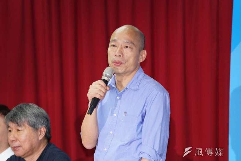 20190715-高雄市長韓國瑜15日出席國民黨總統初選民調結果公布記者會。(盧逸峰攝)