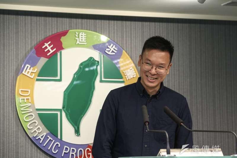 太陽花學運代表人物林飛帆接任民進黨副秘書長。(資料照,陳品佑攝)