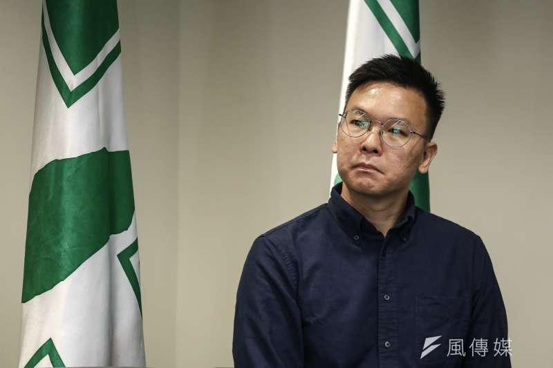 民進黨新任民進黨副秘書長林飛帆。(陳品佑攝)