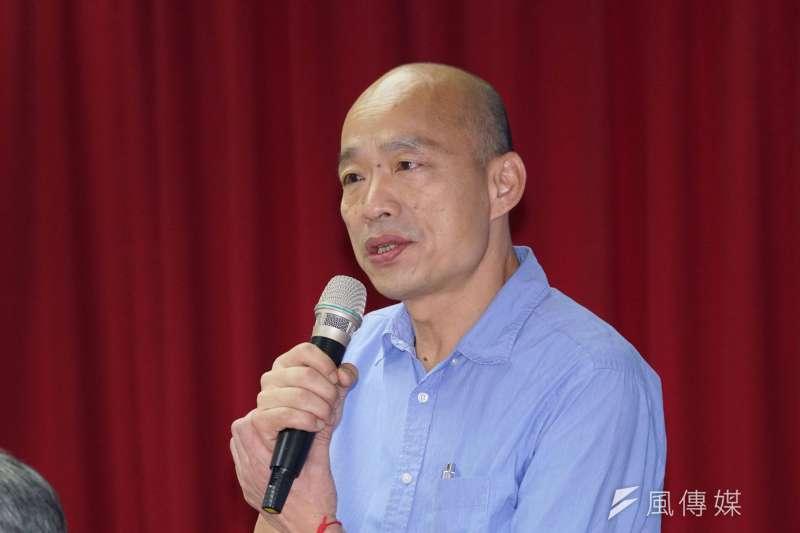 根據國民黨公布的總統初選民調指出,高雄市長韓國瑜以47%大勝總統蔡英文的15%。(資料照,盧逸峰攝)