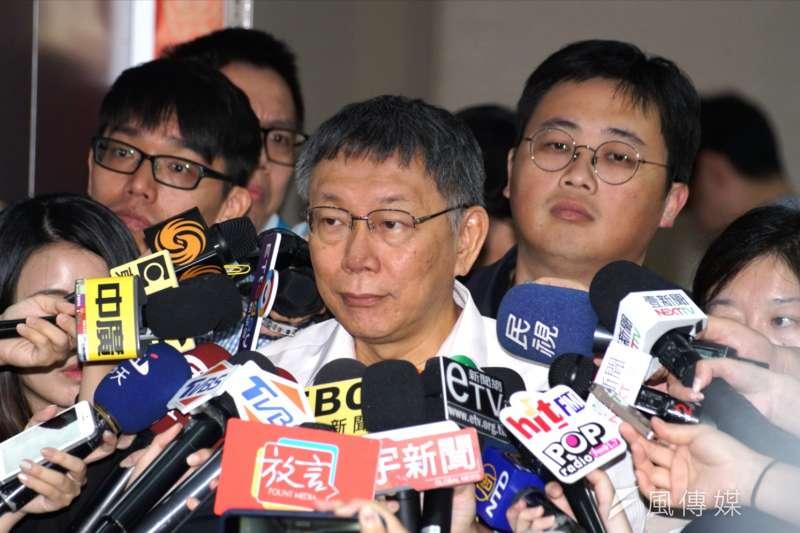 國民黨黨內總統初選結果出爐,針對2020總統大選,台北市長柯文哲(見圖)表示「以前沒有很仔細想,現在開始認真想了」。(資料照,盧逸峰攝)