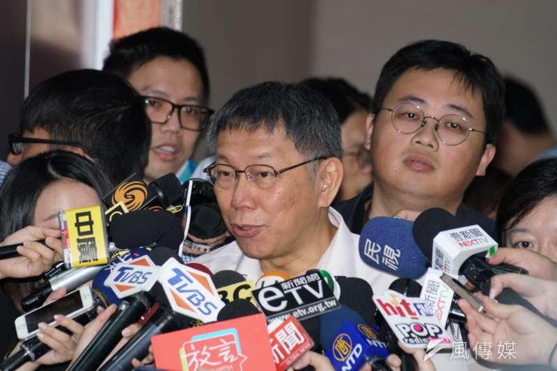 20190716-台北市長柯文哲接受媒體聯訪。(盧逸峰攝)