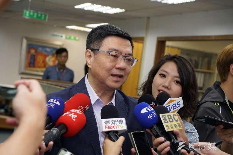 20190717-主席卓榮泰出席民進黨中常會。(盧逸峰攝)