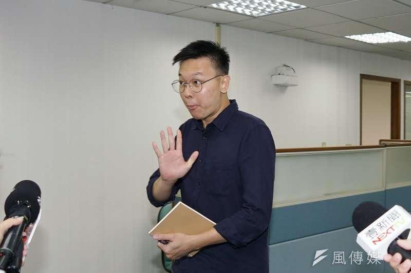 民進黨副秘書長林飛帆。(盧逸峰攝)