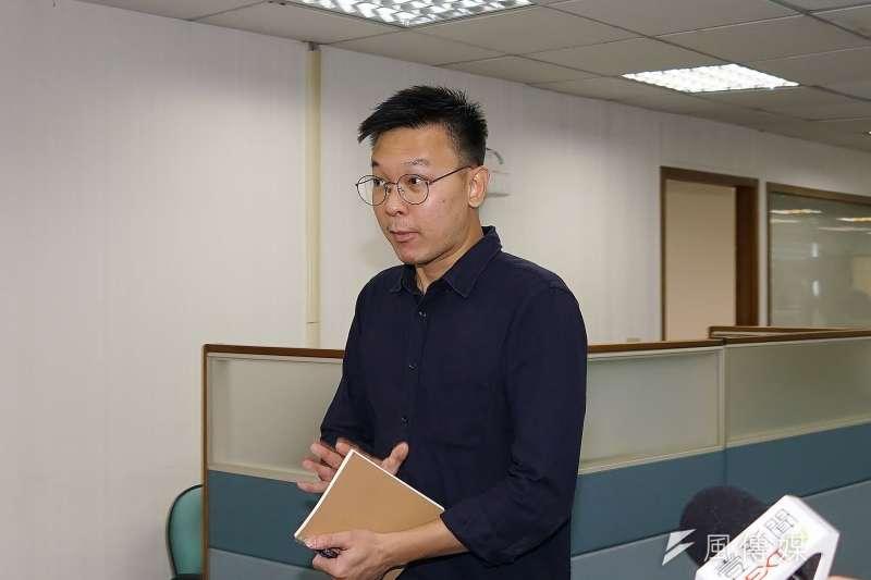 20190717-副秘書長林飛帆出席民進黨中常會。(盧逸峰攝)
