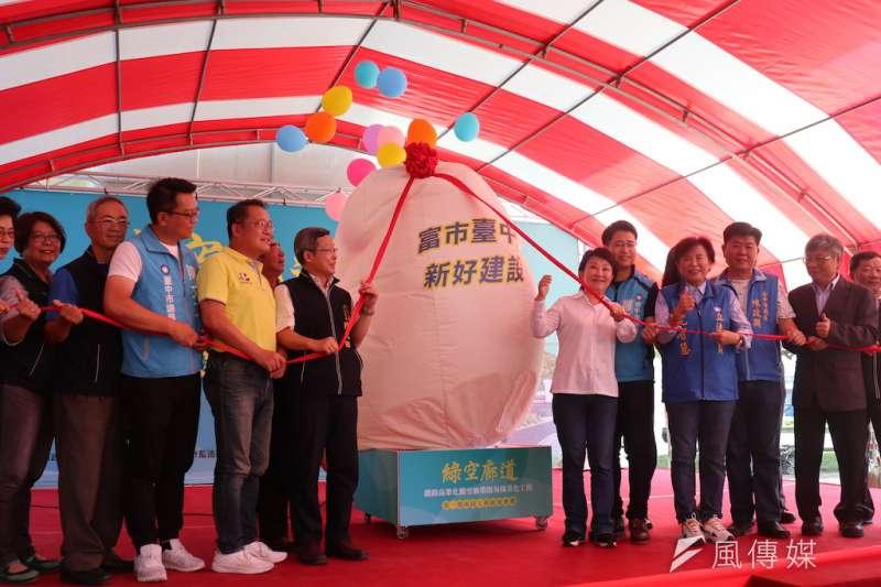 綠空廊道第一期南段工程17日正式啟用,提供鄰近居民運動休閒空間。(圖/記者王秀禾攝)