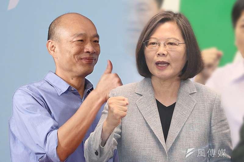 總統大選進入倒數階段,《TVBS》18日公布最新民調,藍綠雙方差距縮小至8個百分點。(資料照,郭晉瑋、柯承惠攝/風傳媒合成)