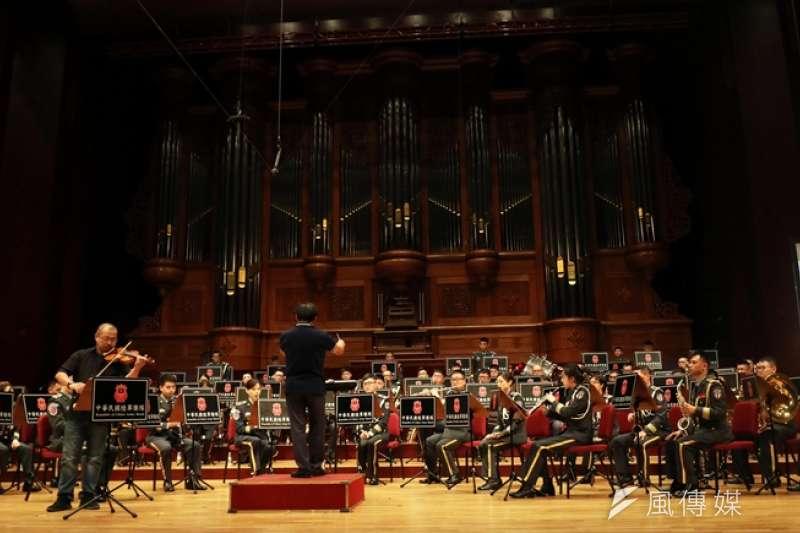 20190717-,陸軍司令部軍樂隊17日晚間在國家音樂廳舉行「大漢天聲音樂會」。(蘇仲泓攝)