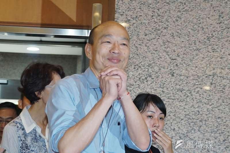 針對2020大選,高雄市長韓國瑜已拿到問鼎總統大位的門票,文化大學新聞系主任胡幼偉建議他從「愛不愛中華民國」的思想層面來與民進黨抗衡。(資料照,盧逸峰攝)
