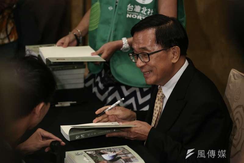 前總統陳水扁為新成立的政團「一邊一國」讚聲。(資料照,陳品佑攝)