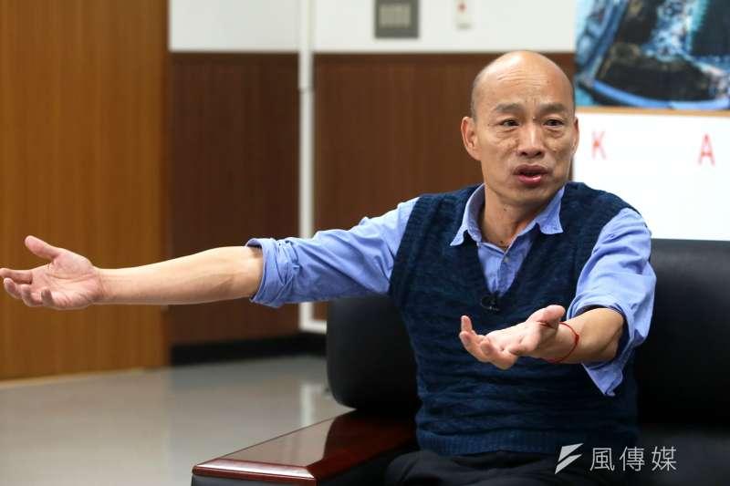 面對罷免,高雄市長韓國瑜表示,如果做不好,被罷免也是應該,他接受市民對他的期中考,這樣才是一個負責任的政治人物。(林瑞慶攝)