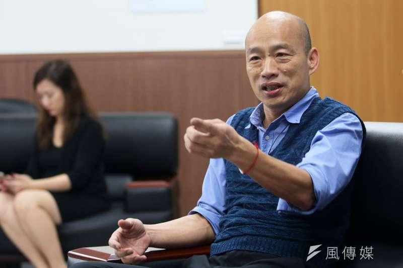 蔡政府以「黑韓」為己任。圖為高雄市長韓國瑜。(新新聞林瑞慶攝)