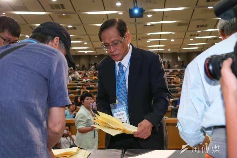 20190720-前民視董事長郭倍宏20日出席「喜樂島聯盟」政黨成立大會。(顏麟宇攝)