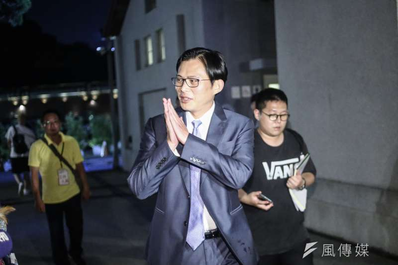 時代力量立委黃國昌20日以「台灣的下一步」為題發表演講。(陳品佑攝)