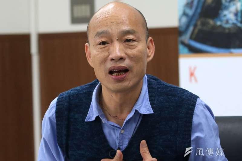 高雄市長韓國瑜19日接受風傳媒與新新聞專訪。(新新聞林瑞慶攝).jpg