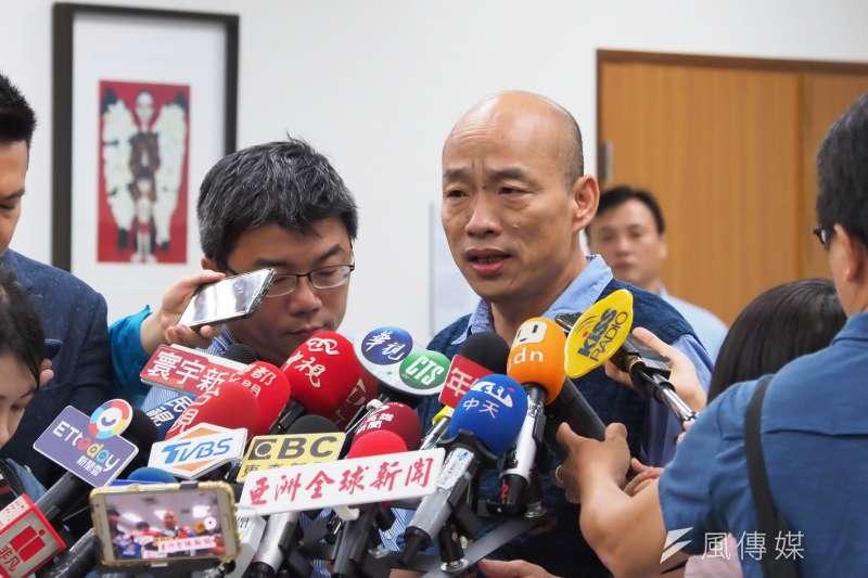 20190719-ICLEI地方政府永續發展理事會19日拜會高雄市長韓國瑜(右)。(新新聞林瑞慶攝)