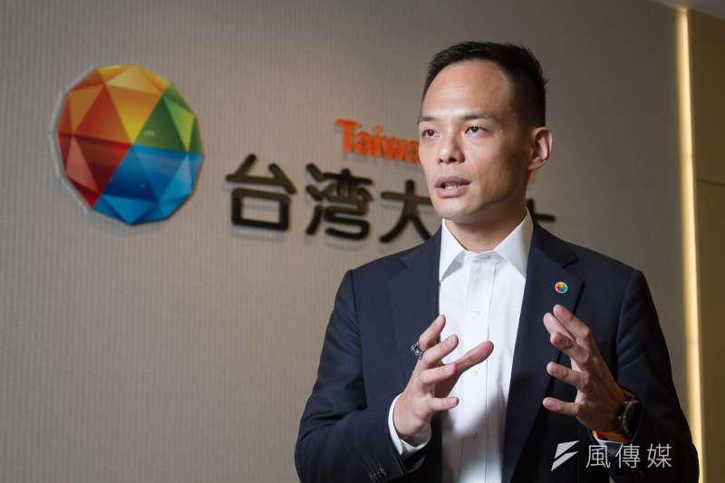 積極布局智慧家庭市場的台灣大哥大(圖為林之晨總經理),智慧音箱銷售高居電信業之冠。(蔡親傑攝)