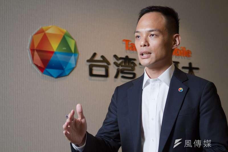 20190722-台灣大哥大林之晨總經理22日接受專訪。(蔡親傑攝)