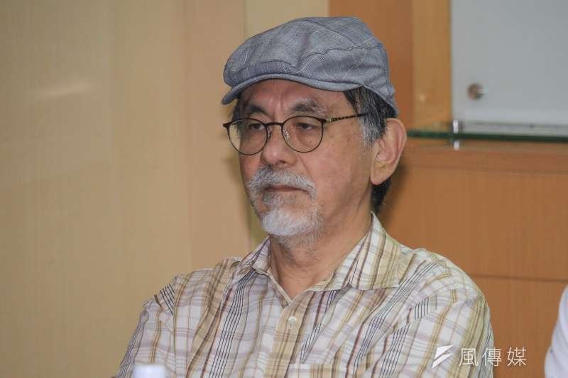 林濁水22日出席台灣民意基金會「新形勢下的2020台灣總統大選」民調發表會。(蔡親傑攝)