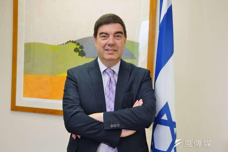 駐台北以色列經濟文化辦事處代表游亞旭(Asher Yarden)。(盧逸峰攝)