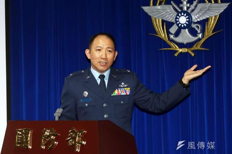 20190723-空軍第五聯隊聯隊長謝日升少將。(蘇仲泓攝)