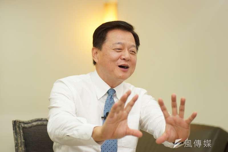 前台北縣長周錫瑋(見圖)23日接受《風傳媒》專訪表示,台北市長柯文哲參選對民進黨很傷,前鴻海董事長郭台銘脫黨則是沒有正當性。(盧逸峰攝)