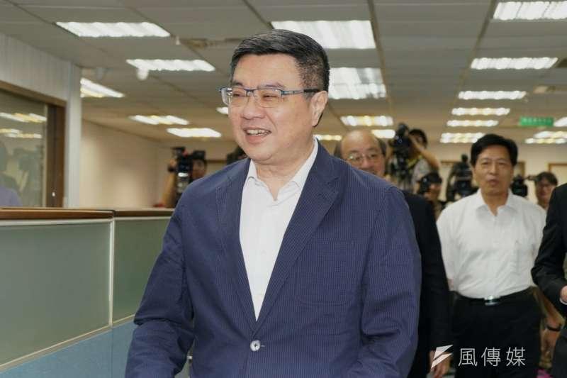 卓榮泰表示,民進黨正朝跨政黨間的「大合作」努力。(盧逸峰攝)