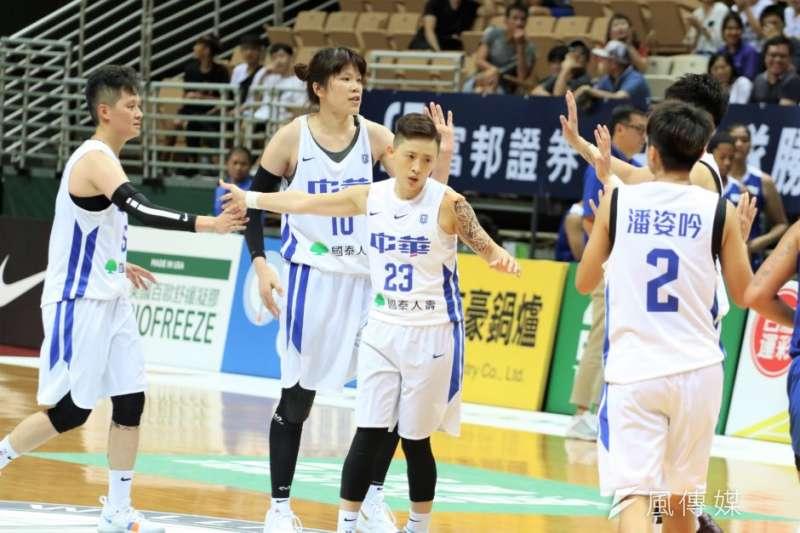 中華藍擊敗菲律賓,終於在本屆瓊斯盃開胡。(潘郡瑤攝)