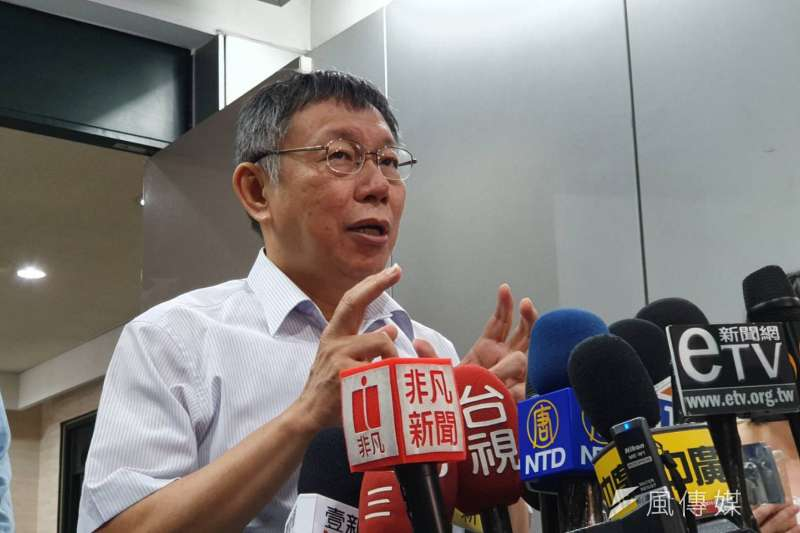 20190726-台北市長柯文哲26日上午在台北市政府接受訪問。(方炳超攝)