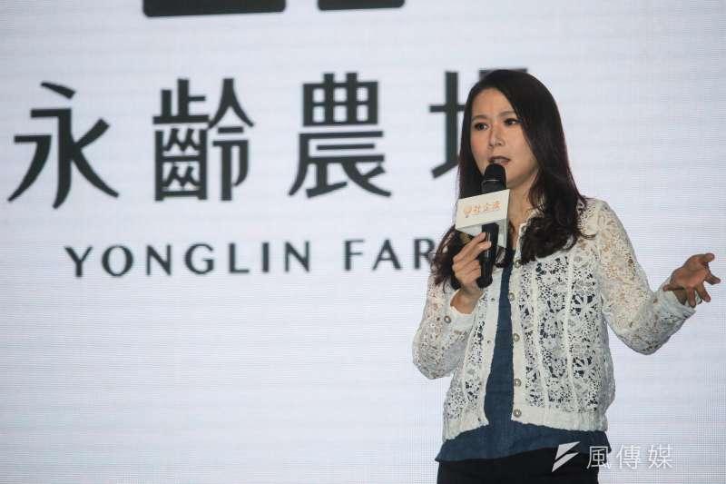 永齡基金會執行長劉宥彤今天出席講座時有感而發表示,「政治真是個地獄」。(蔡親傑攝)