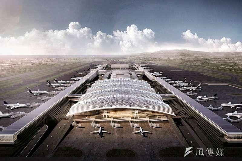 桃園機場三期航站設計圖(取自桃機官網)