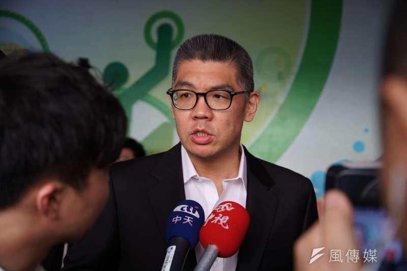 20190728-國民黨全代會,連勝文受訪。(盧逸峰攝)