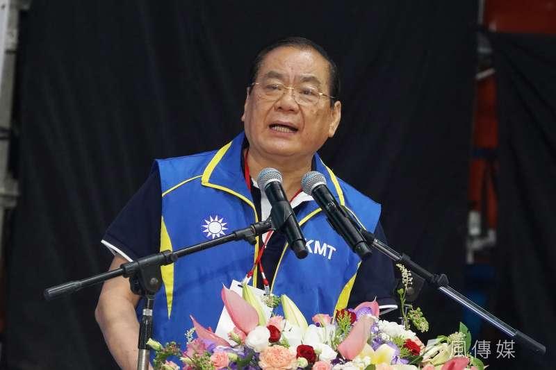 20190728-國民黨全代會,秘書長曾永權進行報告。(盧逸峰攝)