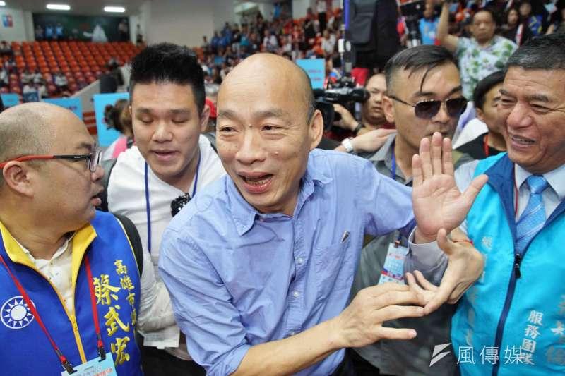 20190728-國民黨全代會,高雄市長韓國瑜進場。(盧逸峰攝)