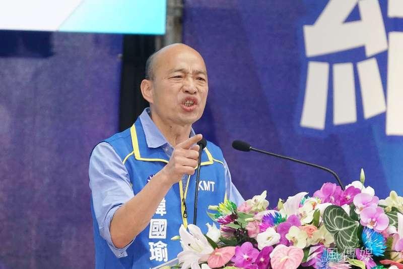 高雄市長韓國瑜(如圖)認為發起「反公帑訂紅媒」的台教會大小眼,自己被抹黑時都不見對方替他說話。(資料照,盧逸峰攝)