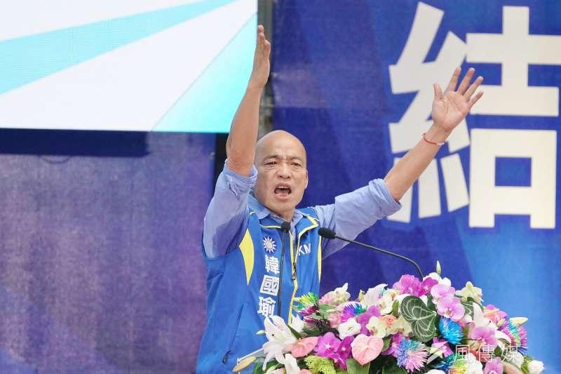 年輕人的支持度偏低,是國民黨總統參選人韓國瑜選情一大隱憂。(資料照,盧逸峰攝)