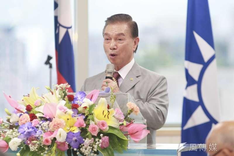 20190729-國民黨中央評議委員劉盛良29日出席國民黨中央評議委員會。(簡必丞攝)。