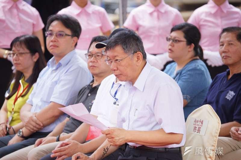 台北市長柯文哲打算組黨,不論也2020是否參賽,組黨都可以讓他保溫,進可攻退可守。(資料照片,盧逸峰攝)