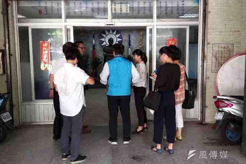 國民黨市黨部辦公室遭基隆地方法院查封。(圖/張毅攝)