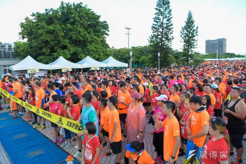2019 ZEPRO CITY RUN城市路跑-彰化場」,七千五百多名路跑跑者參與,透過路跑巡禮鹿港古蹟,認識在地美食。(圖/王秀禾攝)