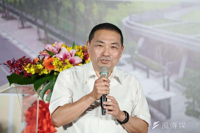針對是否接任中國國民黨總統參選人韓國瑜的新北市競選總部主委,新北市長侯友宜(見圖)17日指出,現在還是以拚市政為最大優先。(資料照,盧逸峰攝)